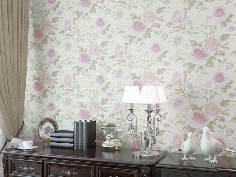 Modern Romantic Flower Wallpaper Living Room Wall Paper Pvc Wallpaper 3d Embossed Wall Papers Home Decor Vinyl Paper Roll<br>