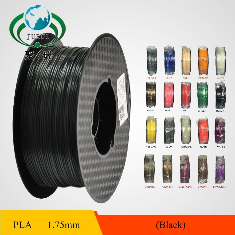 Black 3D Printer Filament PLA 1.75mm 1KG /400M Plastic Rubber Consumables Material<br><br>Aliexpress
