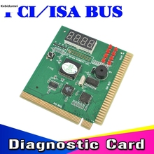 2016 New Arrival PCI & ISA Bus Motherboard Tester Diagnostics Display 4-Digit PC Computer Debug Post Card Analyzer Wholesale(China)