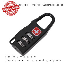 Password lock for SWISSGEAR Waterproof 15 Inch Laptop Backpack Computer Notebook Bag SWISS Wenger Antitheft Backpack bag(China)