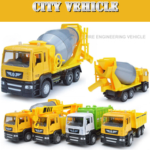 1:32 large cement mixer model alloy concrete truck, there are gift packaging children's toy car, free shipping
