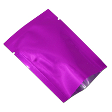 Free Shipping 7*10cm Small Purple Plastic Packaging Vacuum Bag For Food Nuts Storage Heat Seal Aluminum Foil Plain Pocket Pouch