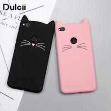 Dulcii For Huawei P8 Lite 2017 Case Cute 3D Mustache Cat Soft Silicone Mobile Casing for Huawei Honor 8 Lite - 5.2''