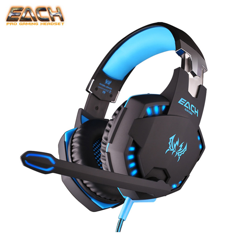 EACH G2100 Gaming Earphones Headphones Vibration Function Professional Game Gamer Headset With Microphone/Stereo Bass LED Light<br>