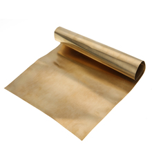 1pc Mayitr Brass Metal Thin Sheet Gold Foil Plate Shim 0.2mmx200mmx300mm For Metalworking(China)