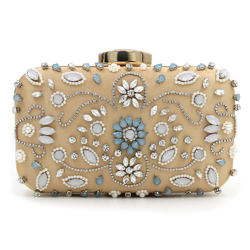 Luxury Evening Bags Women Clutch Bags Party Purse Bags Wedding Bridal Handbag Pearl Beaded Gril Ladies Hand Bags<br>