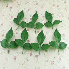 Artificial Leaves Decor Green Artificial Silk Rose Leaf Leaves For Bouquet Garland Party Wedding Decoration