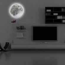 Indoor LED Wall Moon Lamp With Remote Control Relaxing Healing Moon Romance Night Light Home Gentle Home Decor Kids Room Light