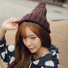 South Korea pointed hats lovers fashion fringe warm winter knitted hat(China)