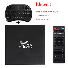 Newest X96 5.0GHZ WIFI BT 4.0 Smart TV BOX 2GB +16GB Amlogic S905X Quad Core Andriod 6.0 HD2.0 4K*2K Kd Media Player Set Top Box