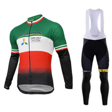 Autumn And Winter ASTANA cycling pants bike style sport Breathable pro cycling team Ropa Ciclismo long mens cycling jersey