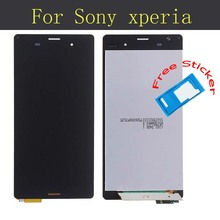 Tested LCD Screen For Sony Xperia Z3 Z3v L55T L55U LCD Touch Digitizer Screen Assembly D6603 D6653 D6616 D6633 Black