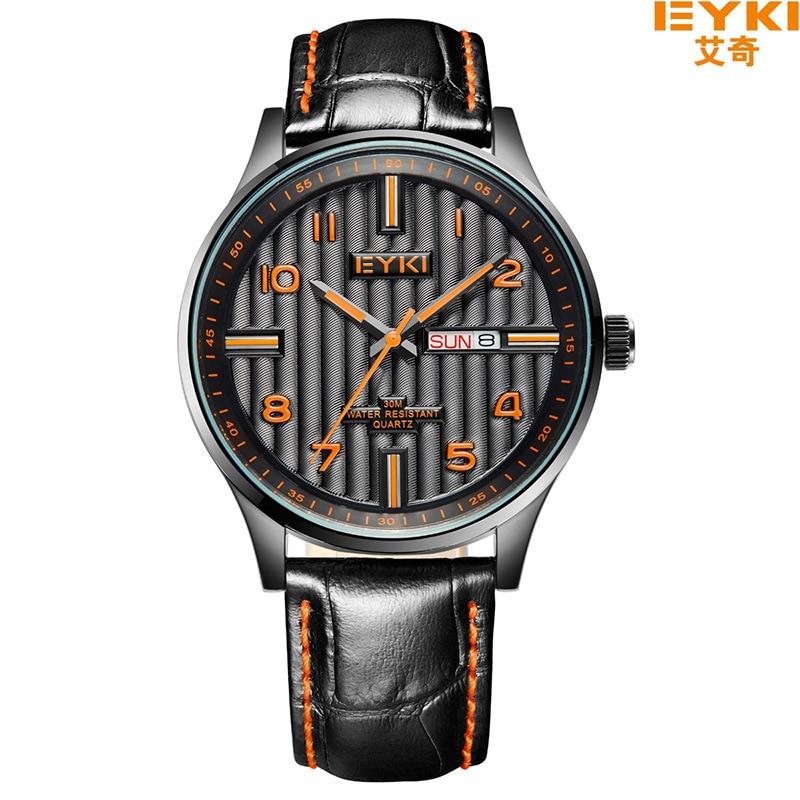 Brand EYKI 30M Waterproof Dress Watch Casual Fashion Simple Genuine Leather Strap Watches Mens WristWatch  Men Quartz EET1028L<br><br>Aliexpress