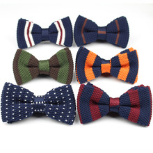 Men Neck Ties Tuxedo Knitted Bowtie Bow Tie Thick Double Deck Pre Tied Adjustable Knitting Casual Ties(China)