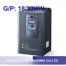 G/P 18kw/22kw low voltage 380v VFD variable frequency drive 18kw 22kw VC ac drive vector control transducer frequency converter