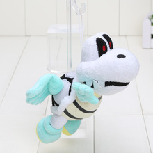 5pcs/lot 19cm/7.5 inch Super Mario Bros DYR Flying Bone Turtle Plush Doll Toy(China)