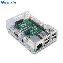Best Selling Clear Case For Raspberry Pi 3 Model B By SB Components Plastic Protective Case Raspberry Pi 3 Case Transparent V3(China)