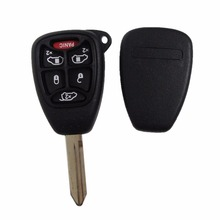 (5+1) 6 Buttons Remote Car Key Shell Cover FOB For CHRYSLER Town & Country Grand Caravan Sebring Dodge Jeep With Pad