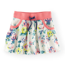 2017 summer baby girls skirts cartoon print toddler kids skirts casual cotton pockets girl clothing children skirts