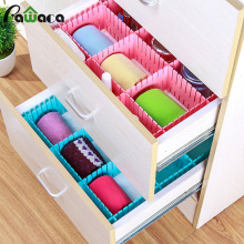 4pcs/lot Organizer Box Adjustable Drawer Partition Board DIY Drawer Divider Socks Underwear Plastic Makeup Storage Box Container