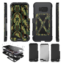 ARMOR KING Rugged Military Camouflage Shockproof Metal Flip Cover Case Shell Armor for Samsung Galaxy S8 & S8+ Plus ORIGINAL(China)
