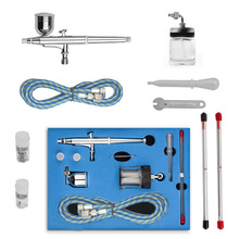 Dual Action Airbrush Kit Needle Air Brush Spray gun body painting airbrush Makeup Styling Tools Nail Art Tattoos SP134KTLWG(China)