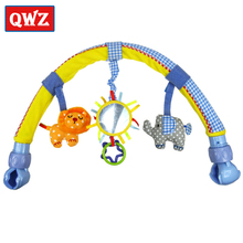 QWZ New Baby Hanging Elephant and Orange Lion Music Toy Baby Bed & Stroller Toy Baby Rattle Cute Plush Stroller Mobile Gifts(China)