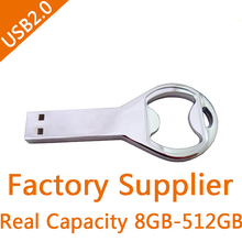 Original Cool Bottle Opener USB 512GB Flash Drive 256GB Pen Drive 128GB Gift 64GB/8GB/16GB/32GB Pendriver H2testw Passed 2.0