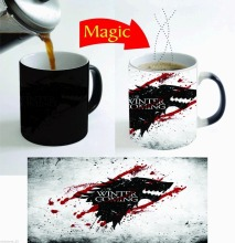 game of thrones winter is coming mugs Magic mug transforming heat reveal cup cold hot heat changing color magic mug tea cups