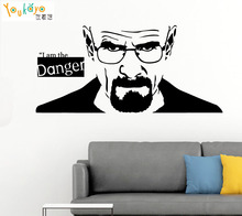 Breaking Bad Heisenberg Wall Sticker Kitchen Bedroom Sofa I Am The Danger Quote Wall Decal Living Room Vinyl Home Decor Art