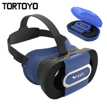Foldable VR Go 3D Glasses Google Cardboard Virtual Reality Folding 3D VR Case Box for iPhone Samsung Huawei Xiaomi 4.0-6.0 inch(China)