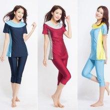 New Women Swimsuit Short Sleeve Muslim Swimwear Modesty Style Muslimah Swim Clothing Islamic Wear Plus Size Muslim Swimwear3xl(China)