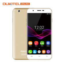 New Oukitel U7 MAX Quad Core Cellphone MTK6580A 5.5 Inch IPS Screen 1GB RAM 8GB ROM 8MP+2MP Andriod 6.0 2500mAh 3G WCDMA Phone(China)