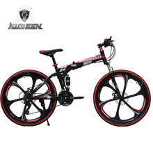 KUBEEN-BEGASOO mountain bike 26-inch steel 21-speed bicycles dual disc brakes variable speed road bikes racing bicycle(China)