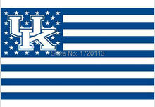 Kentucky Wildcats NCAA USA Stars Stripes Flag New 3x5ft 90x150cm Polyester Flag Banner, free shipping(China)