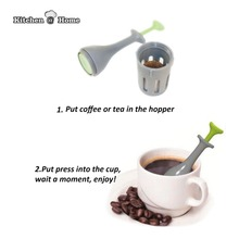 Healthy Flavor Coffee Tea Press Steps Single Serve French Bar Tools Gadget K176(China)