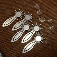 18mm Clear Domed Glass Cabochon Cover for Antique Silver DIY Alloy Portrait Helm Bookmark Making