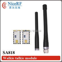 2PCS RDA1846S VHF Band 134MHz to 174MHz SA818-V 1W Wireless Voice Transceiver Module +2PCS Rob Antennas