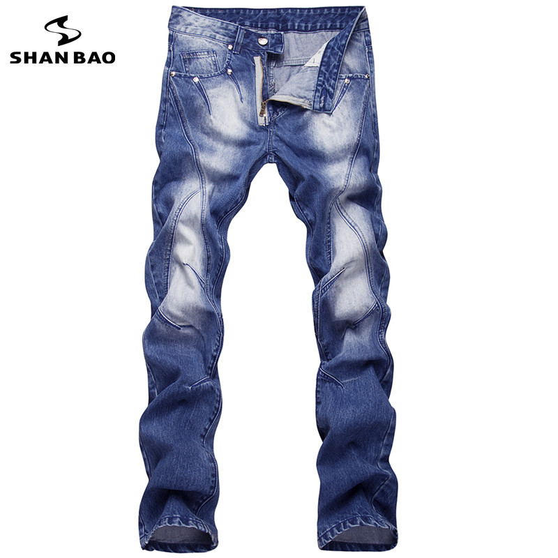 High quality button rivet designer mens fashion jeans 2017 new brand designer fashion style personality trousers blue Y1003Одежда и ак�е��уары<br><br><br>Aliexpress