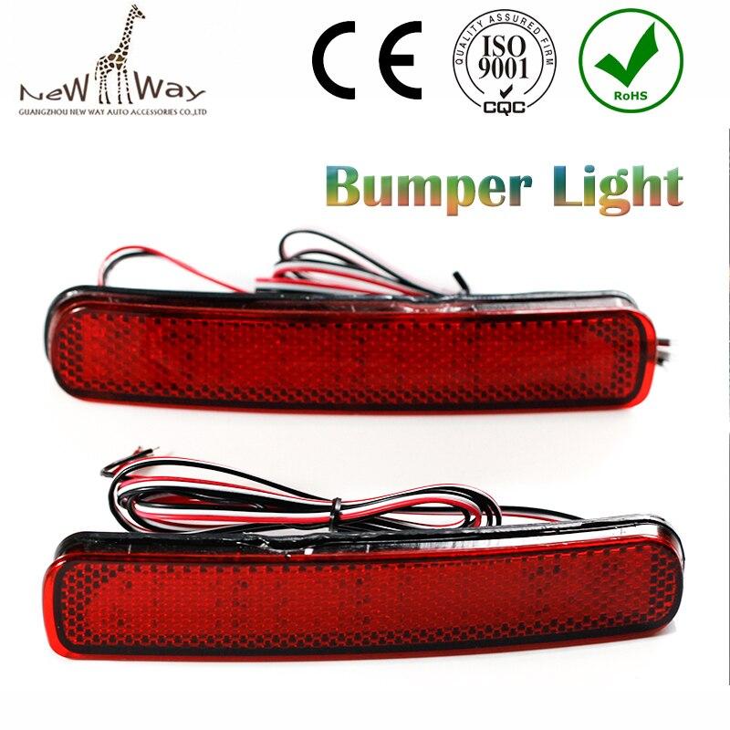 2 PCS Parking Warning DC 12V Rear Bumper Reflector Light for Toyota For 2012-2014 Toyota Highlander Red LED Lamp 5W red bulb<br><br>Aliexpress
