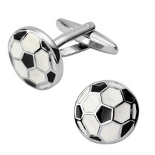 The latest men's wedding jewelry French shirt cuff Cufflinks high sport black and white football Cufflinks