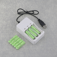 8PCS Rechargeable NI-CD 600mAh 1.2V AAA Size 7 Batteries + 1PC DC 5V USB Charger For Rechargeable Ni-MH Nickel AA AAA Batteries(China)