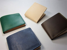 ALAVCHNV retro handmade imported vegetable tannery purse wallet cross section tree cake leather cloth bag genuine wallet E001