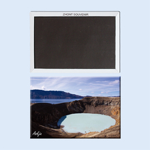 Viti Geothermal Lake At Askja Iceland 22691,Souvenirs of Tourist Landscape gifts for friends Magnetic refrigerator(Hong Kong)