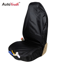 AUTOYOUTH Premium Waterproof Bucket Seat Cover (1 Piece) Universal Fit for Most of Cars Trucks Suvs Black Car Seat Protector