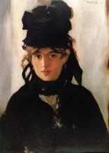 Free shipping! High Quality! handmade most famous artists oil painting reproduction Manet Artworks Berthe-Morisot(China)