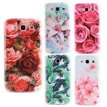Flower Flower Soft Cases For Samsung S2 S3 I9100 I9300 SIII Silicon Mobile Phone Cover Rose Lily Covers For Samsung S2 S3 Cases(China)