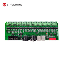 Wholesale 30 channel DMX 512 rgb LED strip controller dmx decoder dimmer driver DC9V-24V(China)