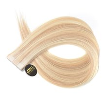 "NatureHERE 1.5g/s 10pcs Tape In Hair Extensions Remy European Straight Hair 14""-26"" 100% Human Hair Skin Weft #613 #P10/16 4#(China)"