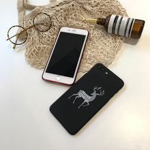 SZYHOME Phone Cases For iPhone 6 6s 7 Plus Case Chinese Style Red Bless Lovely Elk For iPhone 7 Plus Mobile Phone Cover Case C